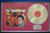 Elvis Presley - 24 Carat Gold Disc and Cover - Golden Records